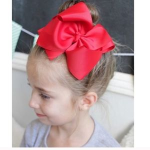 BOGO- Ruby red large bow w/ clip